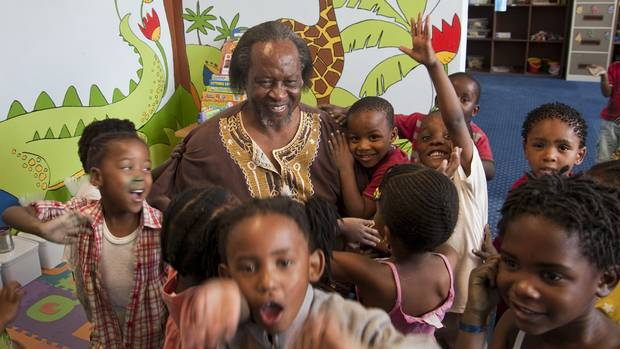 Linda Twala is seen at a daycare for children in Johannesburg's Alexandra township. He also runs a soup kitchen, and a community centre for children and senior citizens.