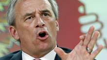 Veterans Ombudsman Patrick Stogran speaks during a news conference in Ottawa, August 17, 2010. (BLAIR GABLE/REUTERS)