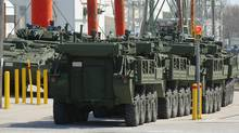 Saudi Arabia is Canada's biggest overseas arms buyer, thanks to a $15-billion deal struck by Ottawa to sell weaponized armoured vehicles made by General Dynamics Land Systems Canada to Riyadh. (Dave Chidley For The Globe and Mail)