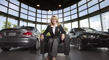 Diane Dunlop-Hébert, president of Golf Canada (the former Royal Canadian Golf Association), poses at the Groupe Park Avenue BMW dealership in Brossard, Quebec on August 16, 2012. (Christinne Muschi for The Globe and Mail) (Christinne Muschi For the Globe and Mail/Christinne Muschi/The Globe and)