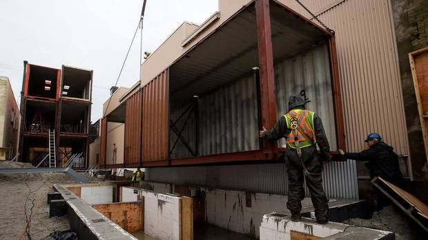 Shipping Containers Transform Into Vancouver Homes The Globe And Mail