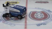 A Zamboni clears the ice following a hockey game at the Bell Centre in Montreal, Sunday, January 6, 2013. (Graham Hughes/The Globe and Mail)