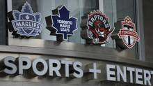 Exteriors of Air Canada Centre and the entrance to Maple Leaf Sports and Entertainment which is located there. Rogers is reported to be interested in buying MLSE and all it's holdings which include the Toronto Maple Leafs hockey team, the Toronto Raptors basketball team and Toronto FC. (Fred Lum/The Globe and Mail) (Fred Lum/The Globe and MailNewspaper)