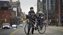 Katie Didyk, a 38-year-old marketing and outreach co-ordinator, lives in Toronto with her partner and their two-year-old son, Arden. (Fred Lum/The Globe and Mail)