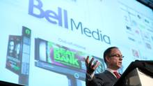 President of Bell Media Kevin Crull delivers a keynote speech (Dave Chan for The Globe and Mail)