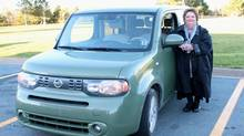 Singer Rita MacNeil and her 'Tonka truck' Nissan Cube. (Supplied photo)