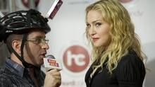 Pop star Madonna touched down in Toronto Tuesday for the grand opening of her Hard Candy Fitness club. (Kevin Van Paassen/The Globe and Mail)