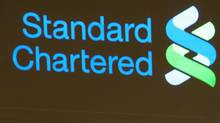 Standard Chartered Banksign in Hong Kong Aug. 8, 2005. (Paul Yeung/Reuters/Paul Yeung/Reuters)