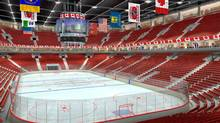 An artist's rendering shows the main seating bowl of the proposed revamped Copps Coliseum in Hamilton, Ont. Blackberry's Jim Balsillie has unveiled his vision for a revamped Copps Coliseum that would be home to a third Ontario NHL franchise.