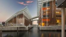 The Astrup Fearnley contemporary art museum, on Oslo's Tjuvholmen waterfront district, is pictured. It was designed by Renzo Piano, who worked on the new Shard tower in London.
