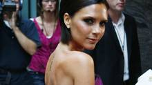 Victoria Beckham arrives at a hotel in Denver, Colo., on Friday, Aug. 7, 2009. (Charles Pullam/Charles Pullam/AP)