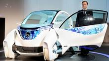 Honda's Micro Commuter concept vehicle, on display at the Tokyo Motor Show. (TORU YAMANAKA/AFP/Getty Images)