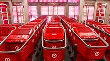 Shopping carts at Target Canada in Guelph Ontario is seen here Monday, March 4, 2013. (Tim Fraser For The Globe and Mail)