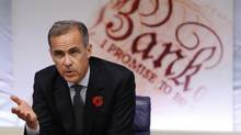 Mark Carney, Governor of the Bank of England speaks during the quarterly Inflation Report press conference at The Bank of England in London, Britain Nov. 3, 2016. (POOL/Reuters)