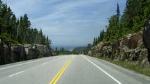 The Trans-Canada Highway just south of Wawa, Ontario (MARK RICHARDSON for The Globe and Mail)
