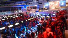 A sample of E3's pandemonium: the Sony Playstation booth filled nearly to bursting (Chad Sapieha For the Globe and Mail)
