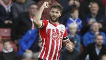 Southampton's Charlie Austin celebrates scoring his team's first goal against Burnley on Oct. 16, 2016. (Stefan Wermuth/Reuters)