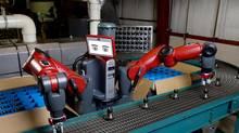 The Baxter robot at a Pennsylvania plant of K'Nex Brands LP. (Stephen F. Bevacqua)