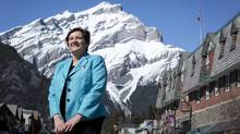 Mayor Karen Sorensen says Banff (Chris Bolin For The Globe and Mail)