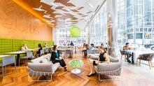 The bistro, for Deloitte employees and guests only, occupies the high-visibility corner in Toronto at Adelaide and Yonge streets. (Gillian Jackson/Deloitte)