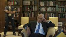 Israel's President Shimon Peres at his office in the Presidential Residence in Jerusalem. (Ahikam Seri for The Globe and Mail/Ahikam Seri for The Globe and Mail)