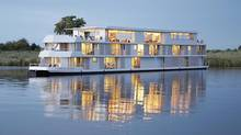 Watch for wildlife along the Chobe River on board the MS Zambezi Queen in Africa.