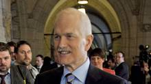 NDP Leader Jack Layton in the Commons foyer after the Tories tabled their budget on March 22. (Fred Chartrand/The Canadian Press/Fred Chartrand/The Canadian Press)