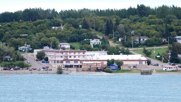 A view of the Manitou Springs Hotel and Mineral Spa in Manitou Beach, Sask, which lies about 125 kilometres southeast of Saskatoon. The saline lake provides the water for the spa's swimming facility, which is so rich in minerals it has been compared to the Dead Sea. (HANDOUT)