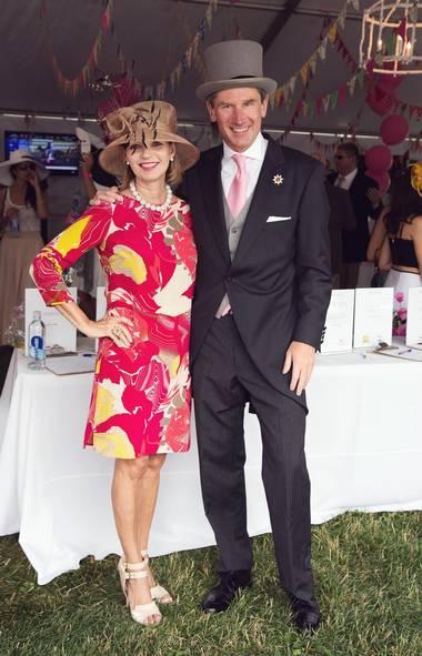 Dyane Legge and Nick Eaves attend Rethink At The Races, a fundraising event during the Queens Plate for Rethink Breast Cancer's fundraiser at Woodbine Race Track. (Jenna Marie Wakani for The Globe and Mail)