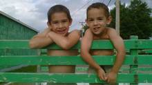 Connor and Noah Barthe, aged 7 and 5, are believed to have been killed by a python that escaped a pet store in Campbelton, N.B. They were found dead on Monday Aug. 5, 2013. This is a recent photo from their mother's Facebook page. (Facebook)