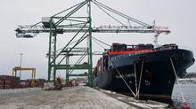 An index of spot shipping rates on 11 trade routes between Asia, Europe and the United States has fallen by 62 per cent in the past year. (Aaron McKenzie Fraser/Bloomberg)