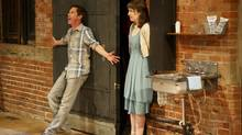 Jonathon Young and Laura Condlln in a scene from This. (Bruce Zinger)