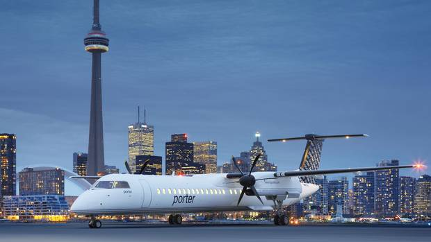 Air canada piles on the perks at billy bishop airport for Porter canada