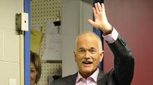 NDP Leader Jack Layton greets supporters at a campaign stop in Welland, Ont., on April 19, 2011. (Mike Cassese/Reuters/Mike Cassese/Reuters)