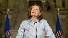 Alberta Premier Alison Redford announces her resignation in Edmonton March 19, 2014. (Jason Franson/Associated Press/Canadian Press)