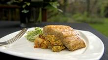 Halibut with Paella (Kevin Van Paassen/The Globe and Mail)