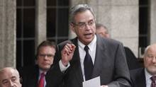 Natural Resources Minister Joe Oliver in the House of Commons, March 28, 2012. Mr. Oliver says he is confident the Northern Gateway pipeline hearings will be completed witin the government's newly mandated 24-month period. (Fred Chartrand/The Canadian Press/Fred Chartrand/The Canadian Press)