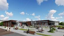 Exterior rendering of Catalyst137 in Kitchener-Waterloo, scheduled to be completed in summer 2017.