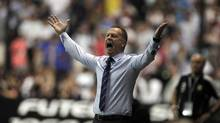 Brazil's national soccer team head coach Mano Menezes gestures during their Clasico de Las Americas international friendly soccer match against Argentina in Buenos Aires November 21, 2012. (ENRIQUE MARCARIAN/REUTERS)