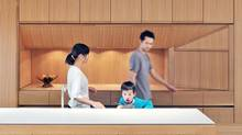 Impeccable woodwork, as in the kitchen here, is one of the hallmarks of Williamson Chong Architects designs. (Bob Gundu)