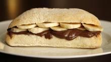 The Secret Santa sandwich (Fernando Morales/The Globe and Mail)