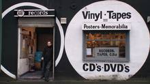 "Screen grab from the online trailer for the documentary ""Sound it Out,"" about the last record shop in a northern England city"