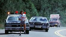 Runner Terry Fox continues his Marathon of Hope run across Canada, Sept. 1980. (Canadian Press)