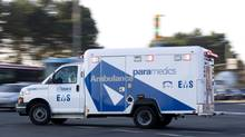 Paramedics have the training and skills to do a lot of routine medicine that doesn't require hospitalization. (Peter Power/The Globe and Mail)