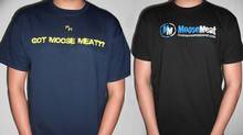 Male models in Moose Meat Apparel T-shirts