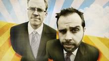 Adam Gant (left) and Emanuel Arruda, the founders of League Assets Corp., met when Arruda was running an errand in Victoria (Ian Keltie)
