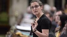 Foreign Affairs Minister Chrystia Freeland responds to a question during question period in the House of Commons on Parliament Hill in Ottawa on May 1, 2017. THE CANADIAN PRESS/Adrian Wyld
