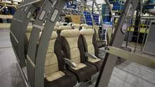 Seats being tested for fit in the CSeries plane which sits in their plant in Montreal, September 22, 2010. (Christinne Muschi/Christinne Muschi for The Globe and Mail)