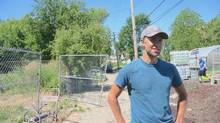Tyson Gersh, 26, a University of Michigan student, co-founded the Michigan Urban Farming Initiative. (Dave LeBlanc for The Globe and Mail)