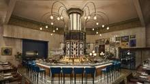Lena Restaurante, left, in Toronto took its design inspirations from the Art Deco details that had to be maintained in the heritage space (Nikolas Koenig/DesignAgency)